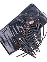 Conjuntos de pincel Escova de Cerdas Fibra Sintética Outros Escova de Cabelo de Cabra Portátil Cobertura Total Madeira Olhos Lábios Rosto