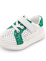 Kids' Baby Sneakers First Walkers Tulle Spring Summer Casual First Walkers Flat Heel Ruby Green Flat
