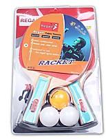 2 Звезды Ping Pang/Настольный теннис Ракетки Ping Pang Резина Короткая рукоятка Прочее В помещении