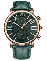 Mulheres Relógio de Moda Quartzo Couro Banda Vermelho Verde