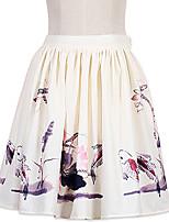 Skjørt Søt Lolita Lolita Cosplay Lolita-kjoler Mote Lolita Kort / Mini Skjørt Til