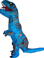 T-REX Costume Inflatable Dinosaur Costume Anime Expo Traje De Dinosaurio Inflable Blowup Disfraces Adultos Costume For Adult With Two Blowers Blue