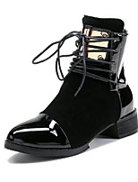 Women's Boots Spring Summer Fall Winter Club Shoes PU Suede Outdoor Office & Career Dress Low Heel Chunky Heel Sequin Split Joint Walking