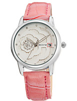 Women Fashion Watch Quartz Calendar Water Resistant / Water Proof Noctilucent Leather Band Cool Casual Black Red PinkBlushing Pink Red