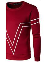 Sweatshirt Homme Décontracté / Quotidien Actif simple Imprimé Col Arrondi Micro-élastique Coton Printemps Automne