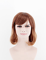 Japan and South Korea fashion models long hair gradient brown mixed natural song high temperature wire wig