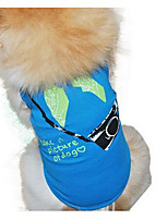 Dog Vest Dog Clothes Summer Cartoon Cute Casual/Daily Yellow Fuchsia Blue