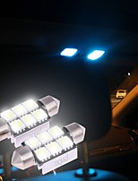 ZIQIAO White 36mm 5050 6 SMD LED C5W Car Led Auto Interior Dome Door Light Bulb Pathway lighting Work Lamp (12V/2PCS)