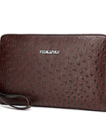 Men PU Formal Casual Event/Party Office & Career Clutch Brown Black