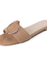 Women's Slippers & Flip-Flops Summer Comfort PU Casual Flat Heel Camel Gray Black Walking