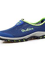 Men's Athletic Shoes Spring Fall Light Soles PU Casual Flat Heel Split Joint Black/White Black Walking