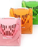 Cat Dog Carrier & Travel Backpack Pet Carrier Portable Breathable Solid Blushing Pink Green Orange