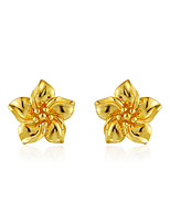 Stud Earrings Flower Style Gold Jewelry For Wedding Party Engagement Valentine 1 pair
