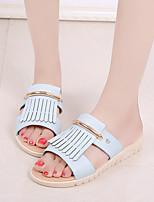 Women's Slippers & Flip-Flops Tassels All Match Fashion Peep Toe Spring Summer Comfort Dress Casual Flat Heel Tassel