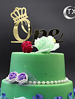 Figurky na svatební dort Nepřizpůsobeno Monogram Akryl Narozeniny Klasický motiv OPP