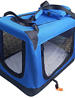 Cat Dog Carrier & Travel Backpack Pet Carrier Portable Double-Sided Breathable Foldable Massage Soft Solid Blue