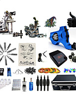 Complete Tattoo Kit 3 G3Z10BRA4A6P Machines Liner & Shader Dual LED Power Supply