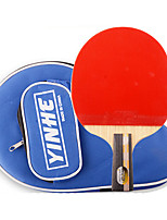 6 Stars Ping Pang/Table Tennis Rackets Ping Pang Wood Short Handle Pimples