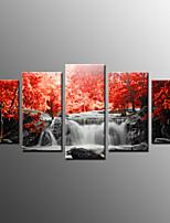 Fotografický tisk krajina moderní, pět panelů plátno libovolný tvar tisk stěna dekor pro domácí dekoraci