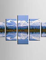 Отпечатки жикле Пейзаж Стиль Modern,5 панелей Холст Любая форма Печать Искусство Декор стены For Украшение дома