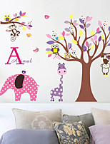 Animales Botánico Caricatura Pegatinas de pared Calcomanías de Aviones para Pared Calcomanías Decorativas de Pared,Papel Material