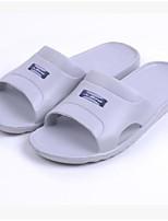 Damen-Slippers & Flip-Flops-Lässig-Gummi-Flacher Absatz-Fersenriemen-Grau Rot Blau