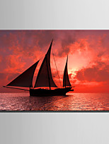 E-HOME Stretched Canvas Art The Sailboat At Sunset Decoration Painting One Pcs