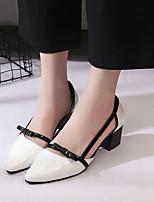 -Для женщин-Для офиса Для праздника-Лакированная кожа-На толстом каблуке-Удобная обувь клуб Обувь-Обувь на каблуках