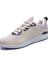 Men's Sneakers Spring Summer Light Soles Fabric  Athletic Casual Flat Heel Lace-up Yellow Gray Black Running Shoes