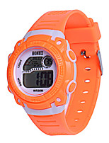Men's Sport Watch Digital Watch Chinese Digital Silicone Band Blue Orange Pink