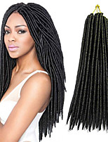 Faux Locs Crochet Braids Twist Extensions fauxlocs hair African Braiding Kanekalon Soft Dread Locks 24roots/pack synthetic hair braiding