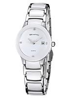 Женские Модные часы Китайский Кварцевый Керамика Группа Черный Белый