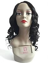 2016 New Products Glueless U Part Lace Wigs Body Wave Bleach Knots Left Part Human Hair U Part Wigs For Black Women