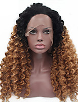 Ombre T1B/30 Synthetic Lace Front Wig Kinky Curly Hair Heat Resistant Fiber Hair Wigs for Woman