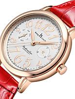 Women's Fashion Watch Quartz Leather Band White Red White Gold
