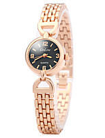 Women Fashion Watch Unique Creative Watch Chinese Quartz Alloy Band Vintage Luxury Elegant Rose Gold