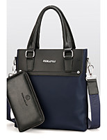 Men PU Formal Casual Event/Party Office & Career Bag Sets Black Blue