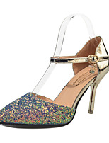Women's Heels Spring Summer Formal Shoes Comfort  Party & Evening Dress Stiletto Heel Sequin Heel Shoes Gold/Silver/White