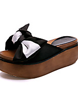 Women's Slippers & Flip-Flops Summer Creepers Fabric Outdoor Dress Casual Creepers Bowknot Green Black Walking