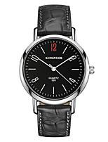 Мужской Модные часы Японский Кварцевый Защита от влаги Кожа Группа Cool Повседневная Черный Коричневый