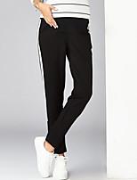 מכנסיים צ'ינו strenchy משוחרר גיזרה גבוהה אחיד פָּשׁוּט סגנון רחוב נשים