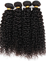 Natural Color Hair Weaves Indian Texture Kinky Curly 12 Months 4 Pieces hair weaves