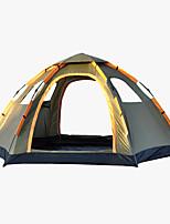 5-8 personnes Tente Unique Tente automatique Une pièce Tente de camping <1000mm Oxford Fibre de verreRésistant à l'humidité Etanche