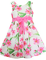 Girls Pink Peach Blossom Flower Party Wedding Princess Baby Child Clothes Dresses