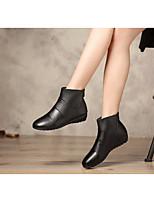 Женские ботинки весна комфорт пу кожа случайный застенчивый розовый черный белый