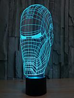 железный человек 3 d проекционной лампы привело акриловые сенсорный визуальный свет