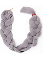 Color Grey Box Braids Jumbo Hair Extensions Kanekal on 3 Strand Hair Braids