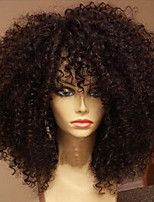 Kinky Curly Full Lace Human Hair Wig with Baby Hair Brazilian Virgin Human Hair Glueless Full Lace Wigs for Black Women 150 Density Wigs Shipping Free