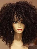 Кудрявый курчавый полный парик человеческих волос шнурка с волосами бразильских виргинских человеческих волос glueless полные парики
