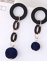 Drop Earrings Euramerican Fashion Wood Alloy Geometric Jewelry For Daily 1 Pair